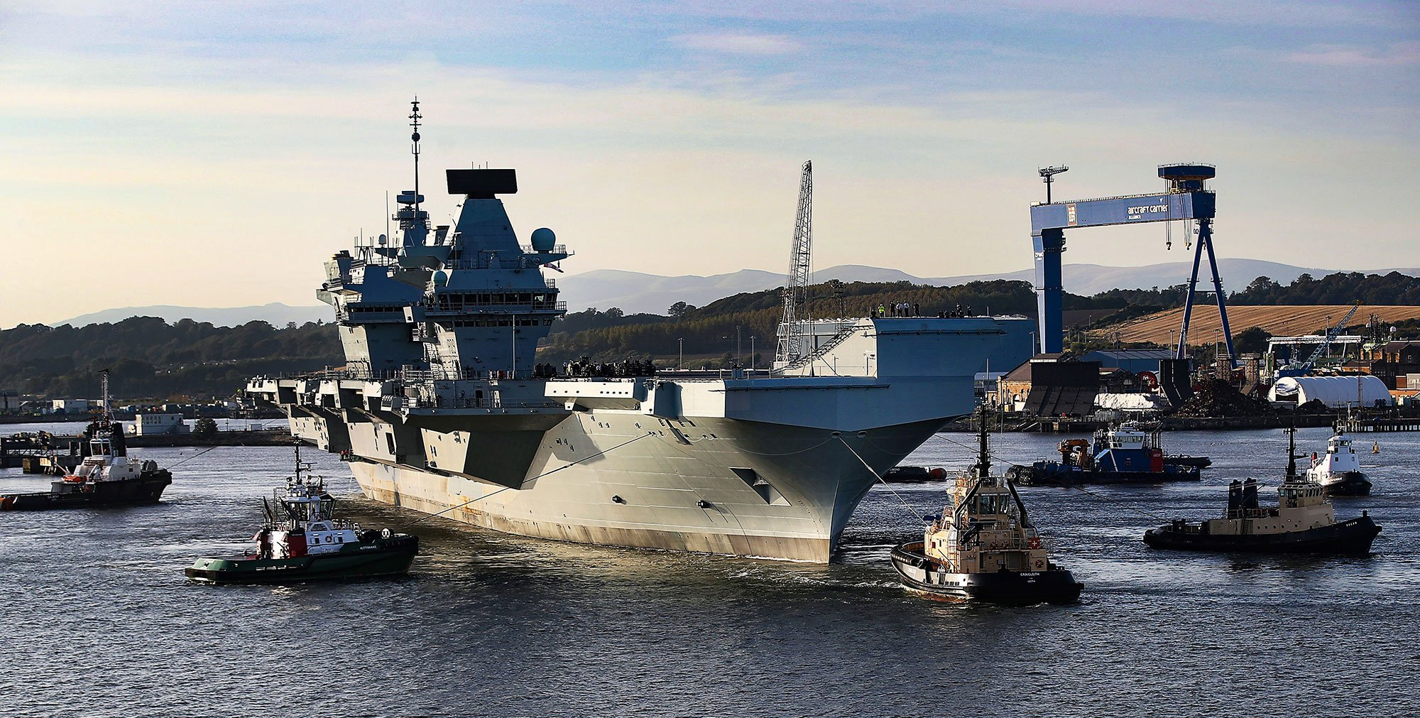 HMS Prince of Wales and the Forth Warrior